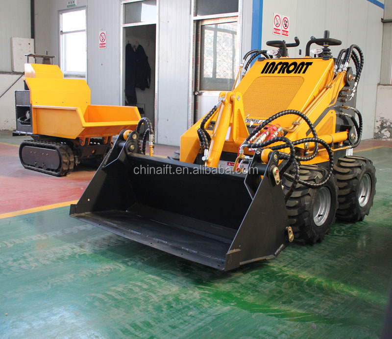 Shandong factory wheel track mini Skid steer loader for sale