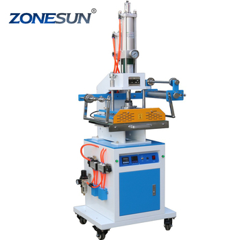 ZONESUN ZY-819M2 300*400mm Automatic Stamping Machine leather LOGO Creasing machine stamper High speed card Embossing machine