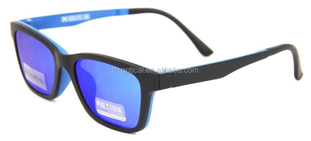 5c9edf4b7073f Lunettes de soleil personnalisé cadres optiques corée rectangulaire bleu  ultem homme adolescent polarisé clip sur les