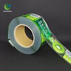 transparent BOPP label sticker roll, clear vinyl label roll