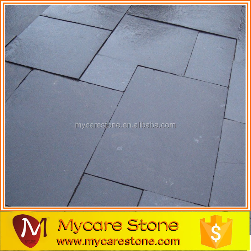 Natural dark grey limestone paver