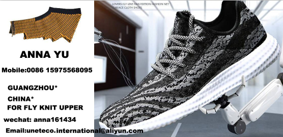 friendly breathable 3D fly knit vamp upper for sneaker shoes