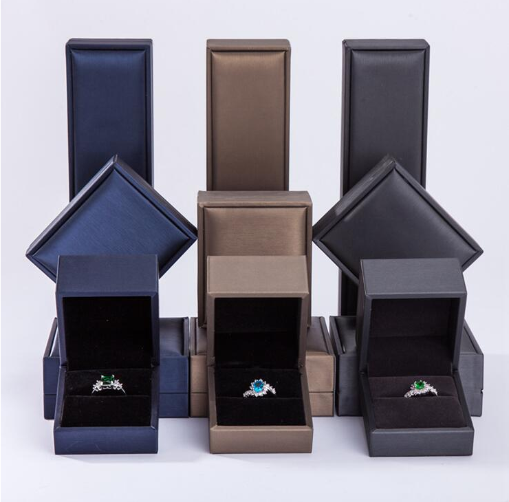 SL001 High-end creative LED light jewelry box Jewelry gift ring pendant necklace bag ornament box
