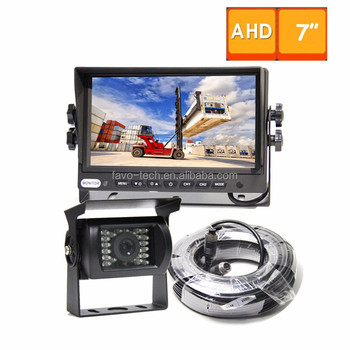"DC12-24V 960P AHD 7"" TFT LCD Trailer monitor camera system For Forklift"