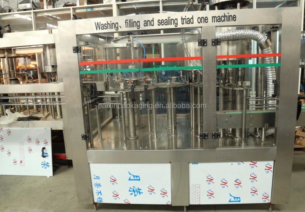 High speed with rotary type bottle washing filling capping machine with automatic system