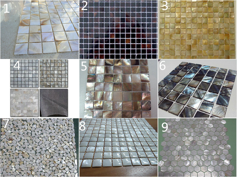 alternative design black lip mother of pearl decorate pearl shell mosaic wall tile