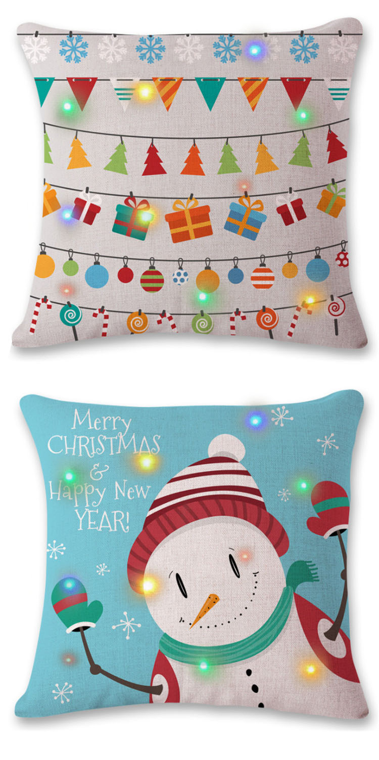2018 high quality oem design pillow cover led
