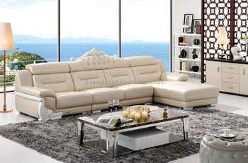 Latest Alibaba White Sectional Leather Sofa With Crown S081 Furniture Living Room Product On