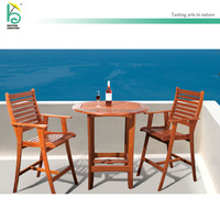 Outdoor furniture Teak High chair Teak table Balcony Garden set