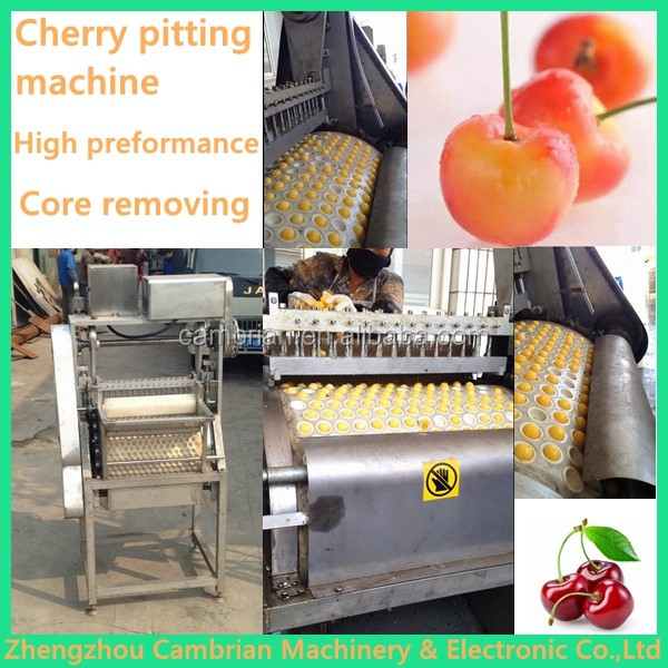 Roller type electric cherry pitter with white rubber pad