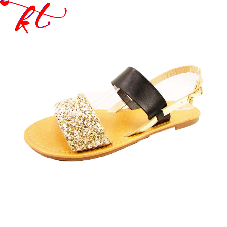 Factory sale various widely used shoes flat low heel women Lady sandal