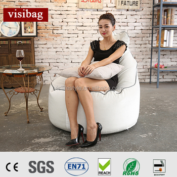 Classic White Water Drop Bean Bag Chair Hot From Factory