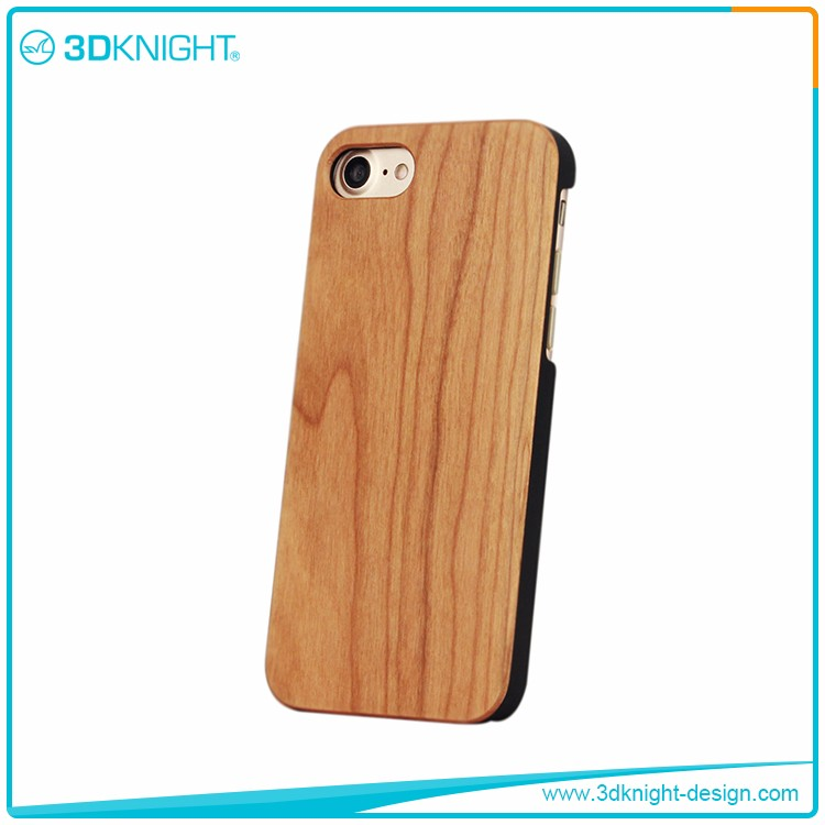 Real cherry wood plain for iPhone cases,for custom printed for iPhone 7 case