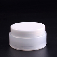 15ml 20ml 50ml 100ml white plastic cosmetic cream jar in stock