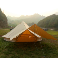 5m Waterproof Sun Shade Canvas Tarp Bell Tent Camping Bell Tent with 4.5x2.9m Tarp