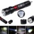 ZQ-X984 XML-T6 5000LM 5 Modes Focusing Waterproof Portable Flashlight Black