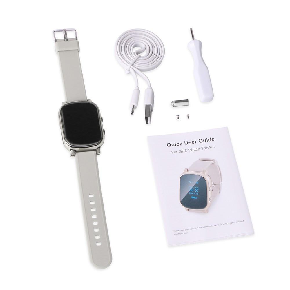 Gift GPS Tracker Smart Watch T58 for Kids / Children GPS Bracelet Google Map Sos Button Tracker Gsm GPS Locator Clock Smartwatch