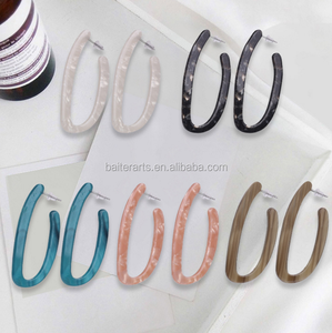 Wholesale Fashion Korea Style Jewelry Acetie Acid U Shaped Women's Acrylic Acetate Drop Earrings