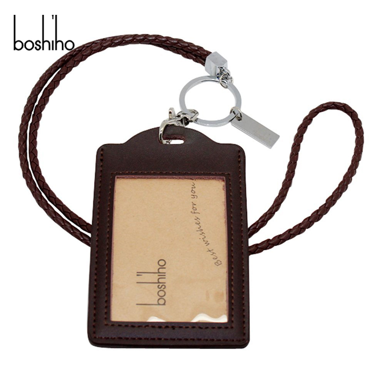 high quality genuine leather card Garment Tags with card holder