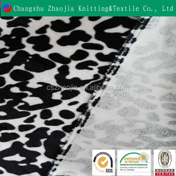 Classic fashion 100% polyester leopard printed warp knitted fabric for sofa fabric