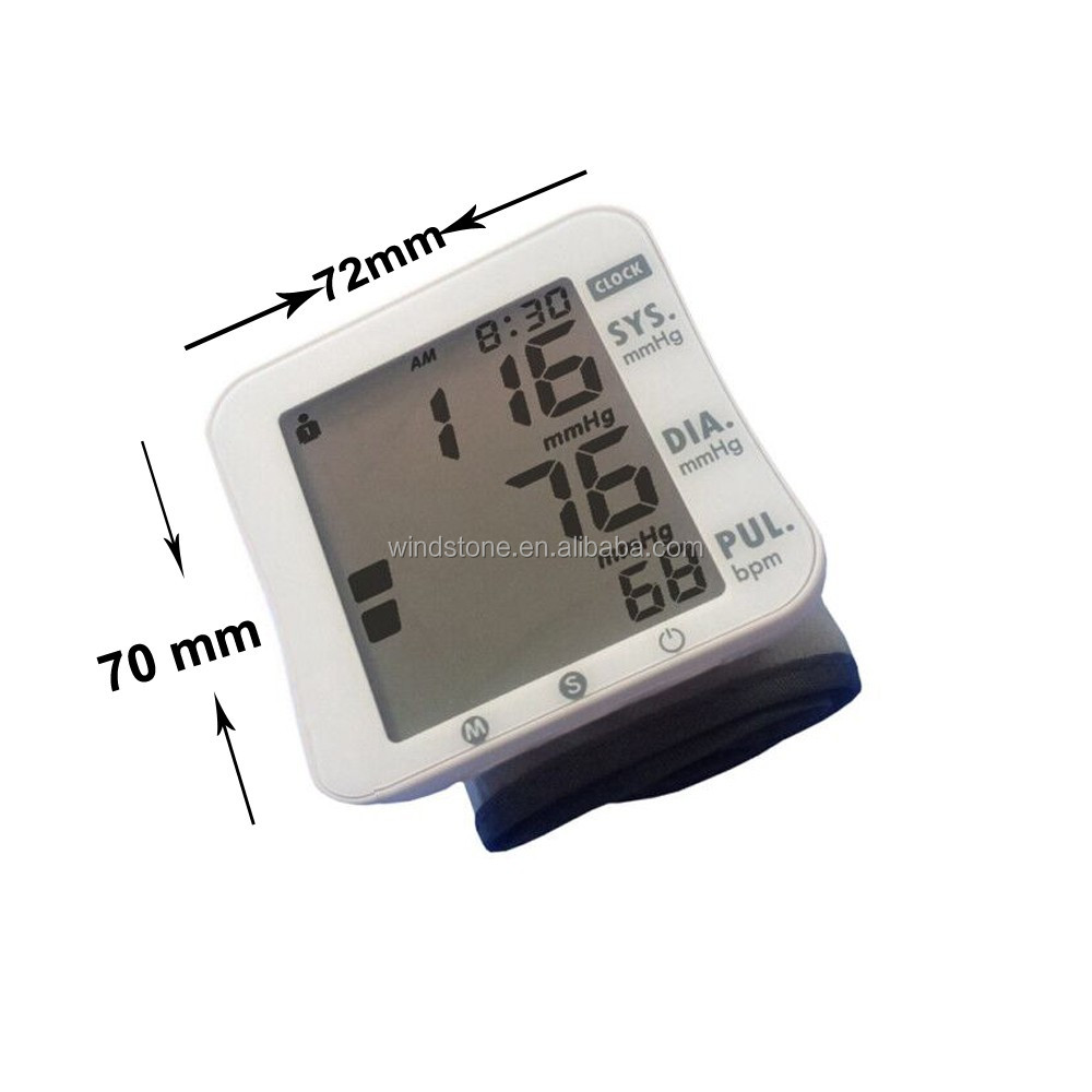 Blood Pressure Monitor LCD Display