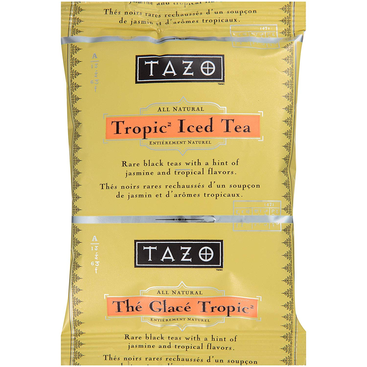TazoFresh Brewed Iced Tea Tropical 3 gallon Pack of 48