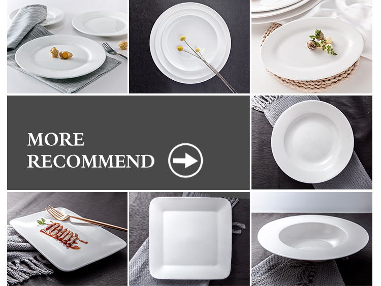High Temperature Porcelain Food Bright White Dinner Coupe Plate