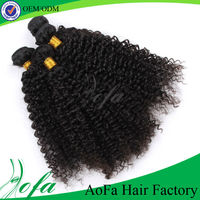 Factory 100% unprocessed human virgin weave extension peruvian jerry curl hair