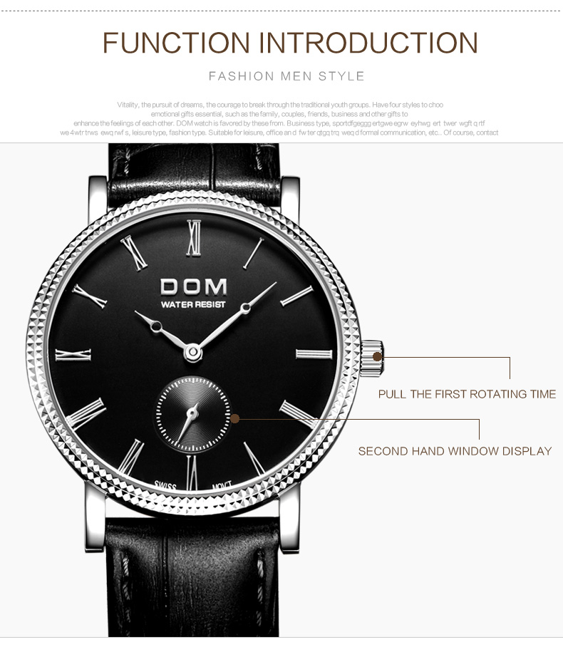 Popular no hands watch  for blind Wholesale prices stainless steel back watch 3atm water resistant japan movt