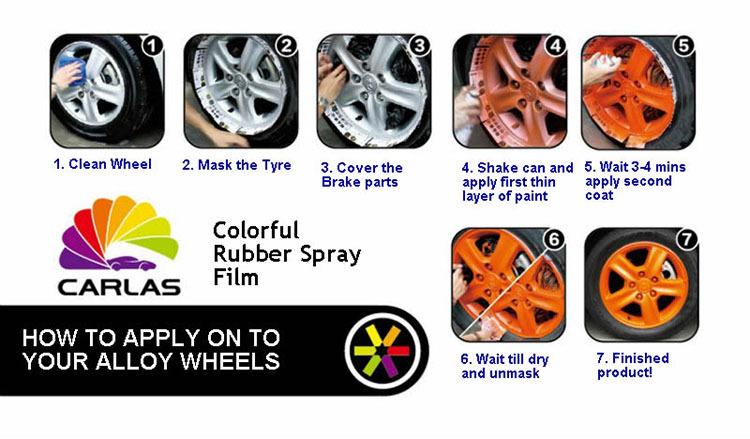 Carlas Foam Rubber Spray Odorless Cheap Spray Paint