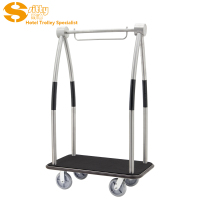 304# Stainless Steel Luggage Cart for Hotel Lobby (SITTY 92.2114AB)