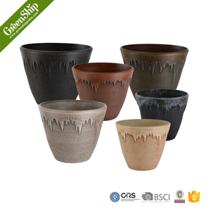 large clay flower pots from Greenship/ eco-friendly