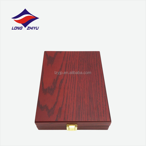 Metal button box blank freely desisn engraving wooden award plaque
