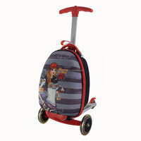 Cheap Cute 3 Wheels Kids Luggage with Scooter