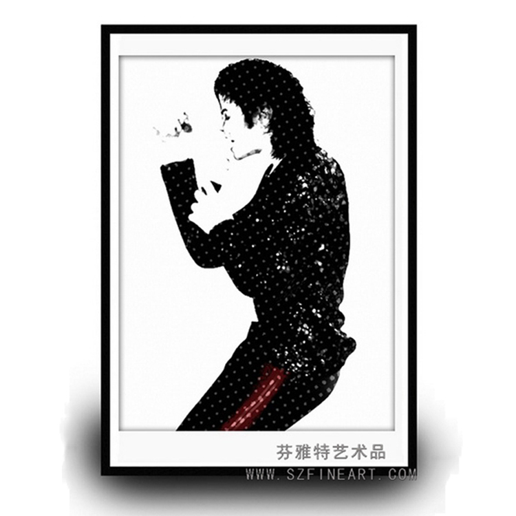 Handmade oil painting of Michael Jackson