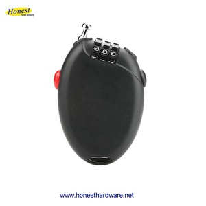 Retractable Cable lock for Bicycle helmet baby carriages