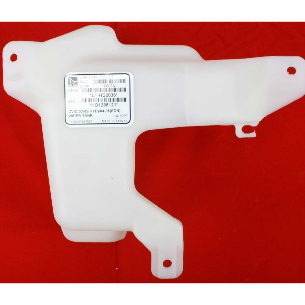 Diften 102-A7307-X01 - New Washer Reservoir Sedan Honda Civic 2005 2004 2003 HO1288121 76840S5B013