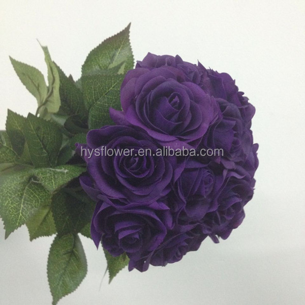 Real Touch Rose Decoration Cadbury Roses Flower Whole Purple Artificial Flowers