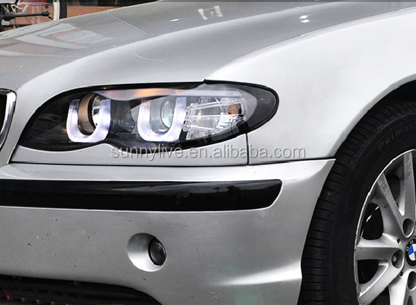 For Bmw E46 318 320 323 325 330ci Head Lamp 4 Doors Angel Eyes ...