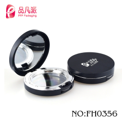 round oil tank double makeup box empty eye shadow jar with custom printed
