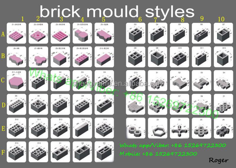 Qt4 26c Cement Hollow Block Making Machine Color Pavers