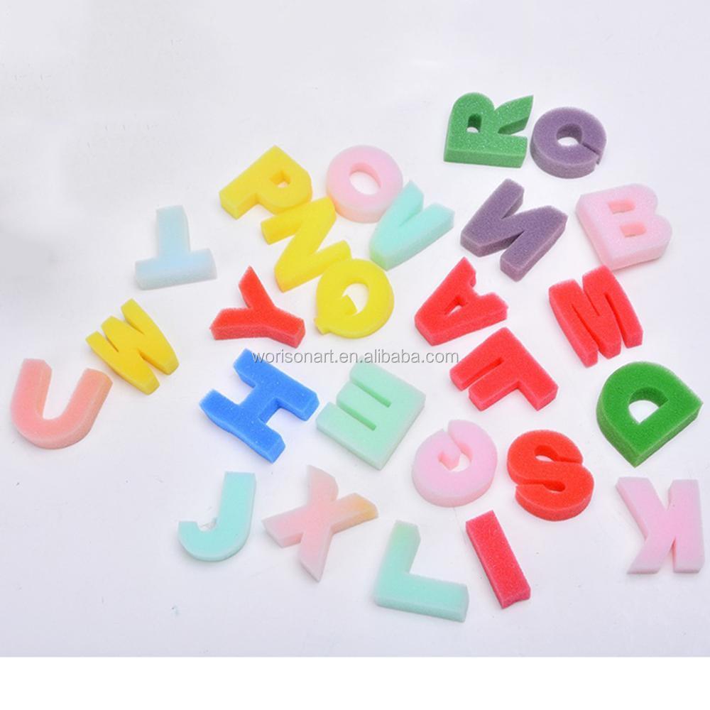 Bebe Enfants Jouets Educatifs Art Outil Dessin Jouets Eponge Abc