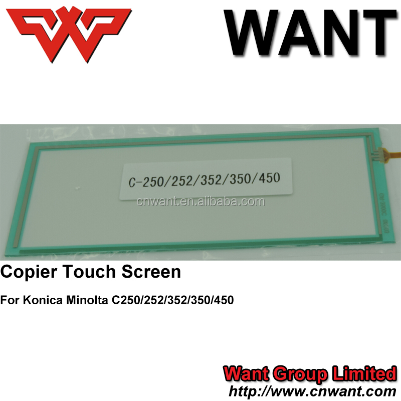 Copier touch panel screen Voor konica minolta bizhub bhc250, c252, c350, c353, c450, DP-3010/3510/451/DP8035/dp3530, BH420/500
