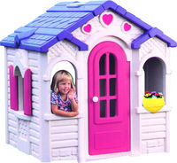 Plastic play house for kids, indoor toy playhouse children plastic castle