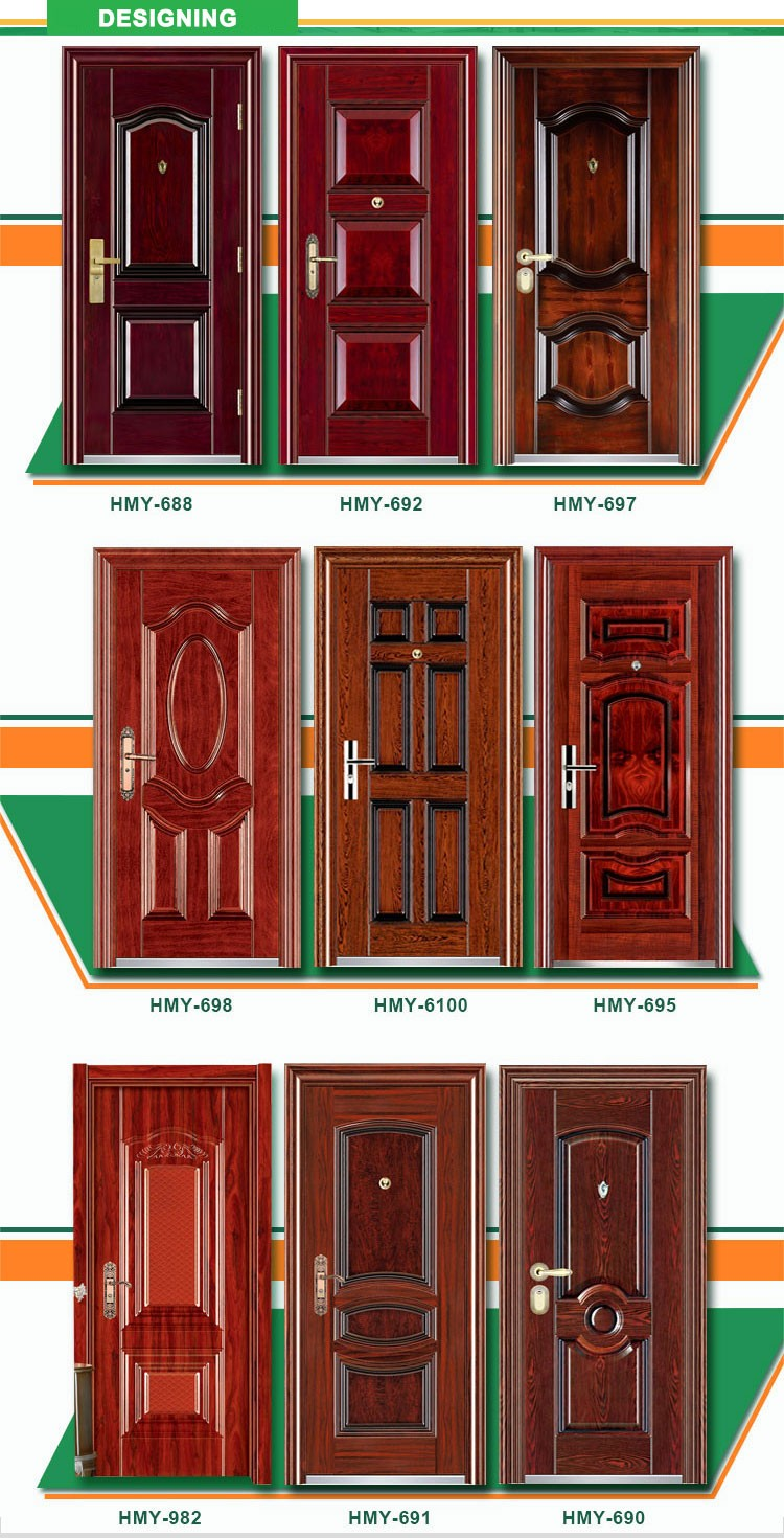China Doors In Ghana Cheap House Doors Safety Used Metal ...