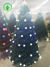 Christmas tree, 6 ft.Fiber optic/PVC White LED light Christmas tree
