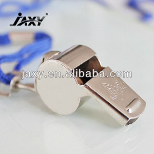 Cheap promotional Stainless Steel metal whistle,brass whistle and lanyard for police and referee