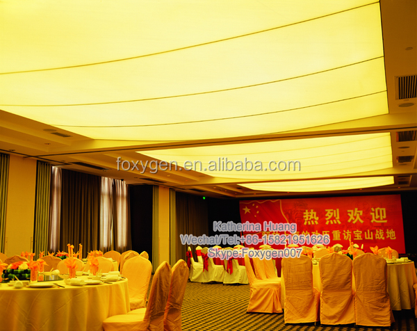 2017 hot PVC transparent stretch ceiling film cheapest design for hall and panel