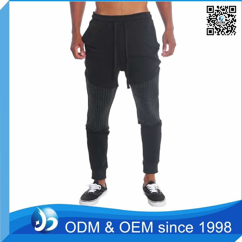 Wholesale Cotton Fleece Cuffed Track Pants With Factory Price