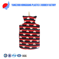 2017 large capacity medical fleece covered hot water bottle outdoor home and office use china supplier